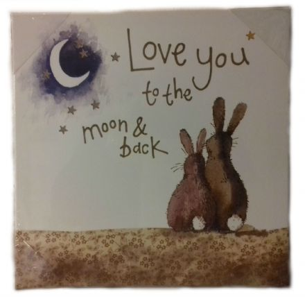 Love you to the Moon & Back Medium Canvas